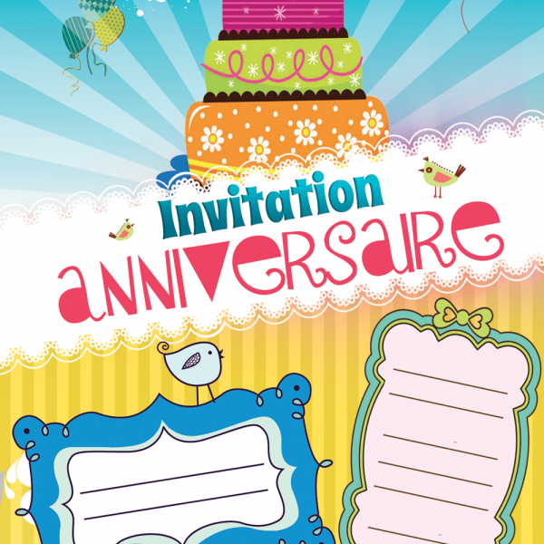 Invitation Gratuite Jaune Invitation anniversaire kidyparty
