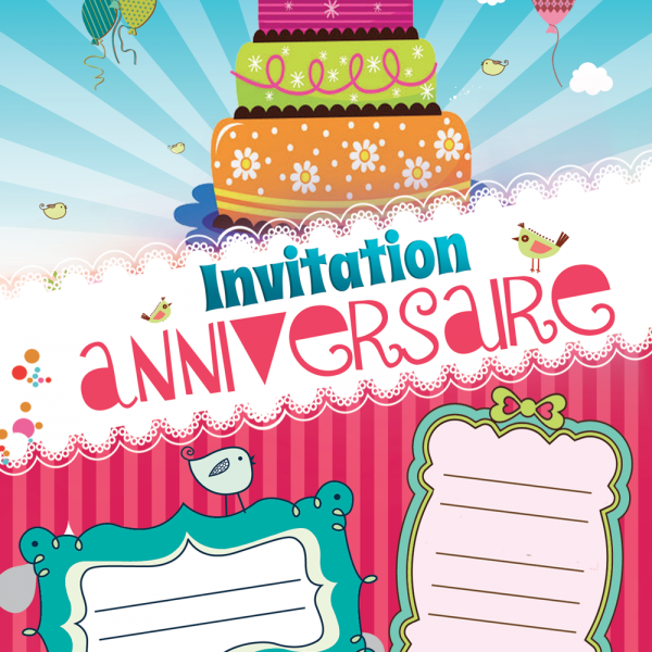 Invitation gratuite rouge Invitation anniversaire kidyparty