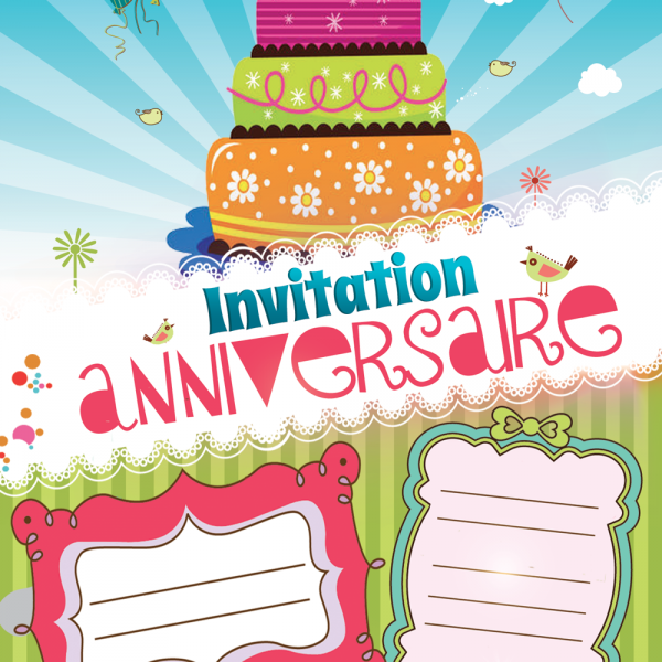 Invitation gratuite Verte Invitation anniversaire kidyparty